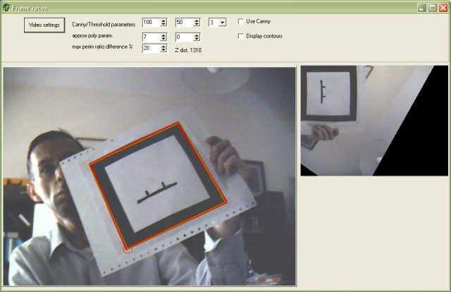 Example of frame recognition